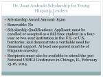 dr juan andrade scholarship for young hispanic leaders1