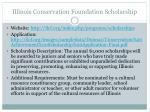 illinois conservation foundation scholarship