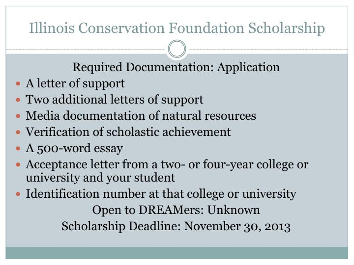 Illinois Conservation Foundation Scholarship