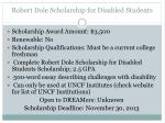 robert dole scholarship for disabled students1