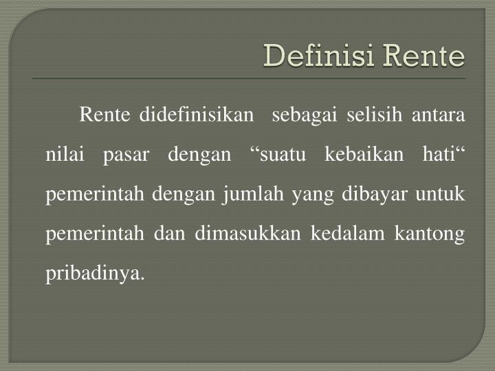 Definisi Rente