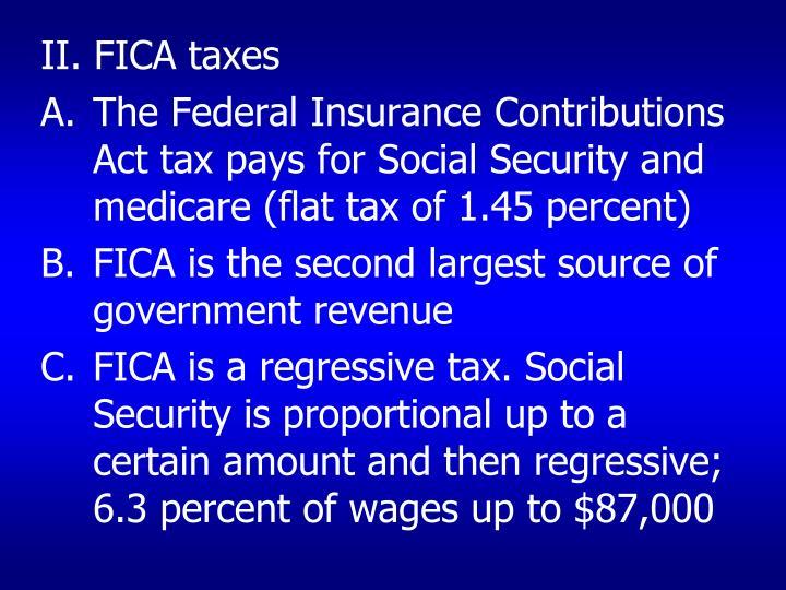 II. FICA taxes