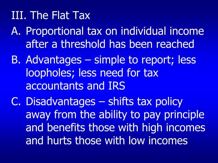 III. The Flat Tax