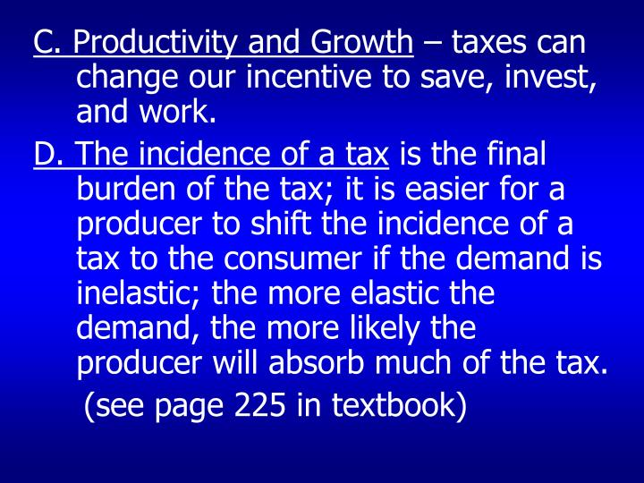 C. Productivity and Growth
