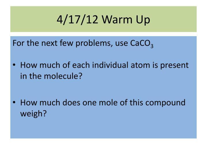 4/17/12 Warm Up