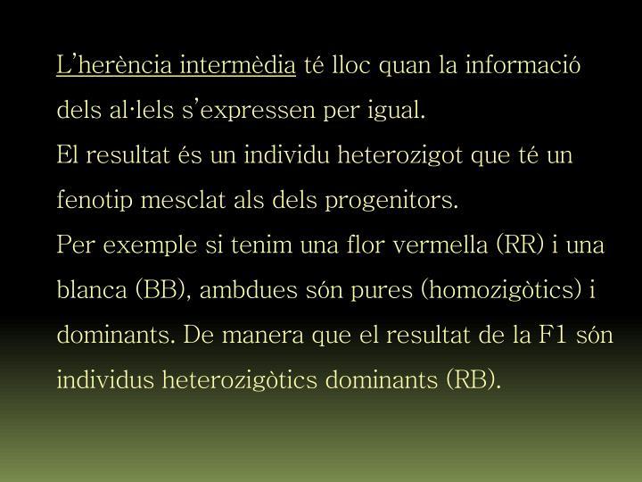 L'herència intermèdia