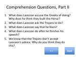 comprehension questions part ii