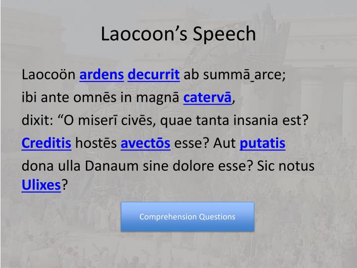 Laocoon s speech