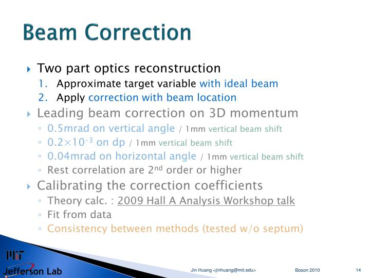 Beam Correction