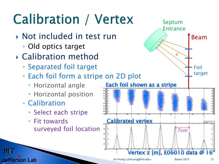 Calibration / Vertex