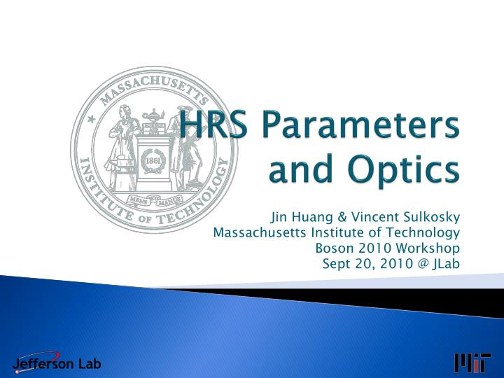 HRS Parameters