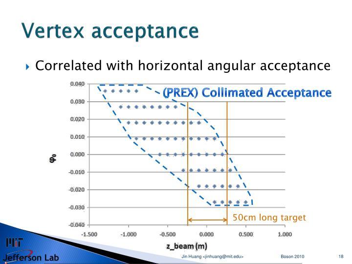Vertex acceptance