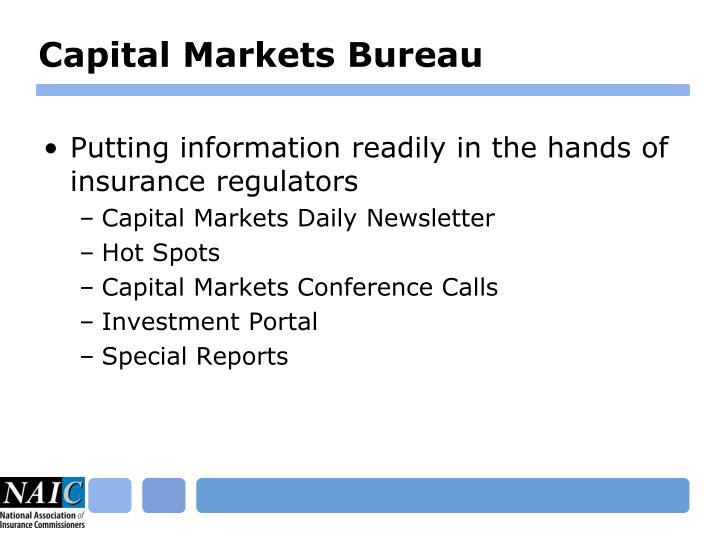 Capital Markets Bureau