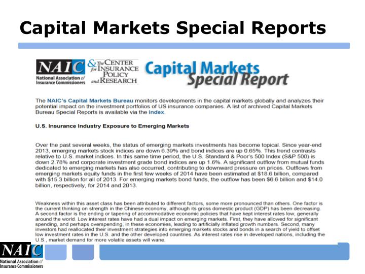Capital Markets Special Reports