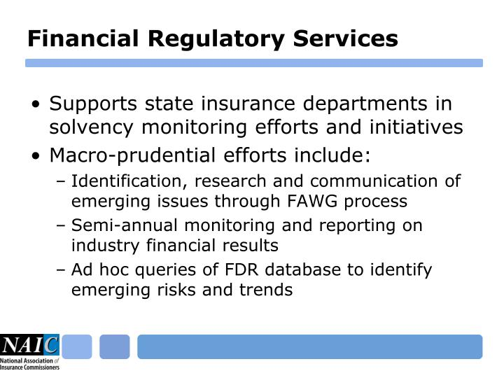 Financial Regulatory Services