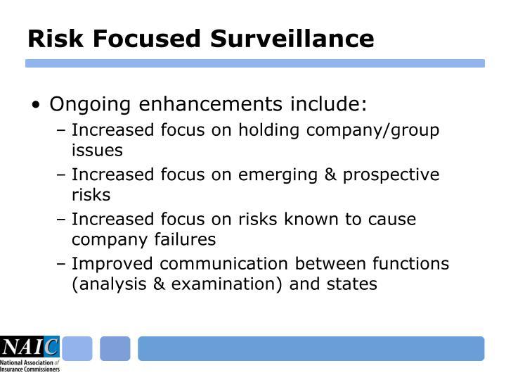 Risk Focused Surveillance