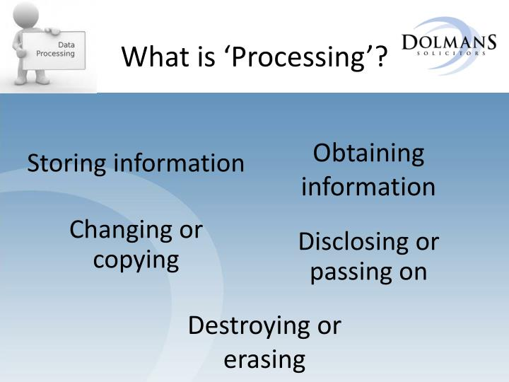 What is 'Processing'?
