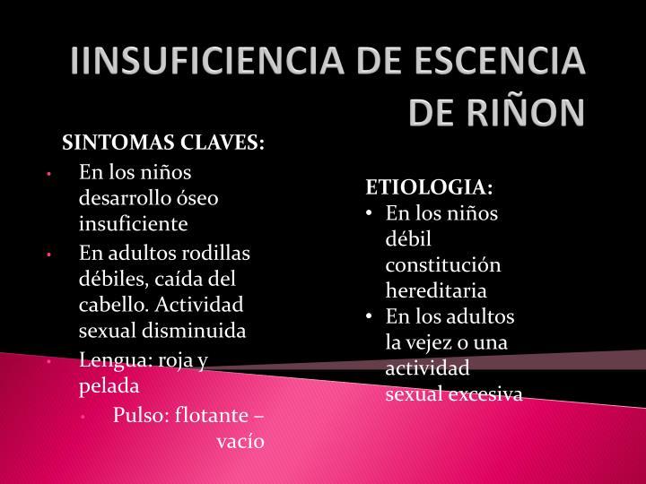 IINSUFICIENCIA DE ESCENCIA DE RIÑON
