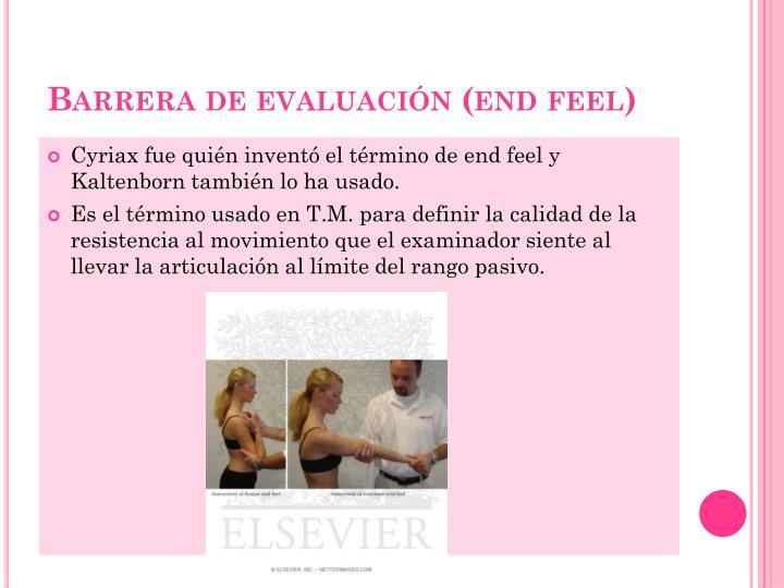 Barrera de evaluación (