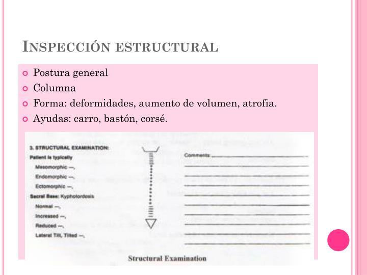 Inspección estructural