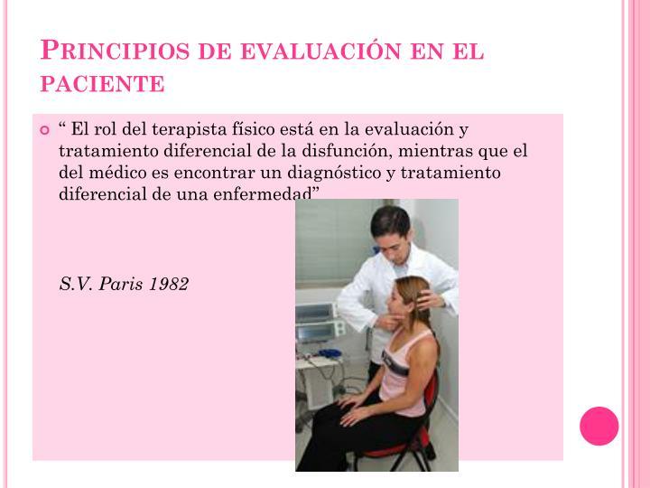 Principios de evaluación en el paciente