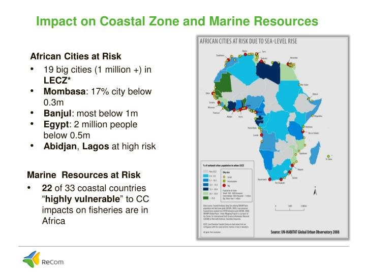 Impact on Coastal Zone and Marine Resources