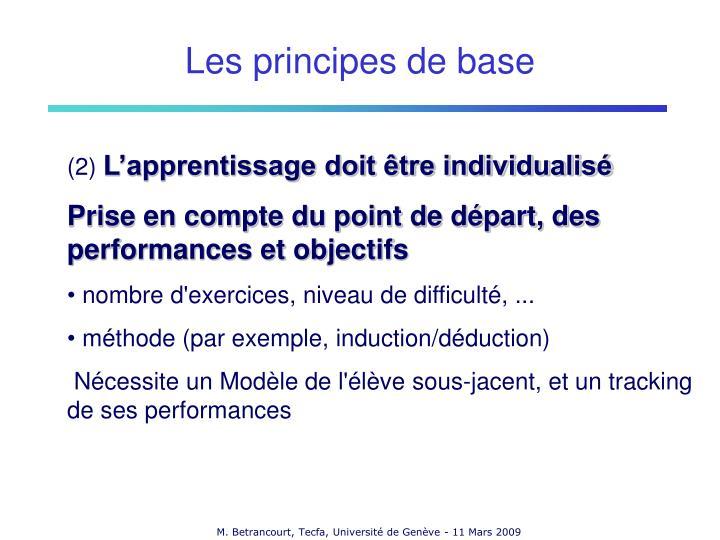 Les principes de base