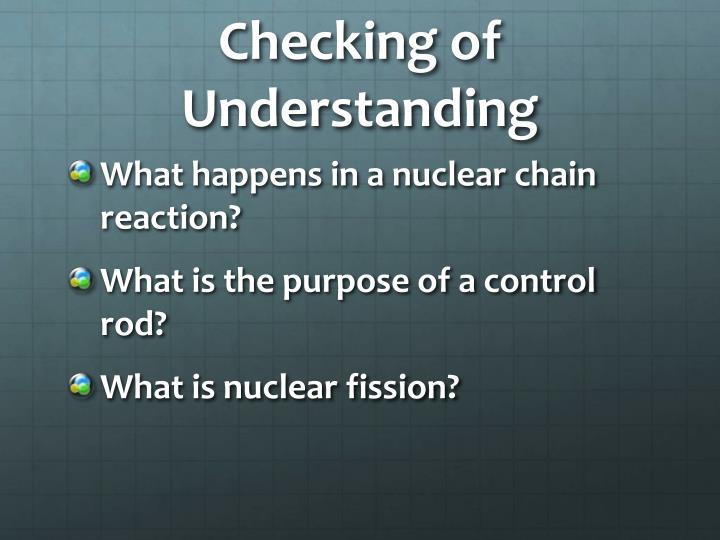 Checking of Understanding
