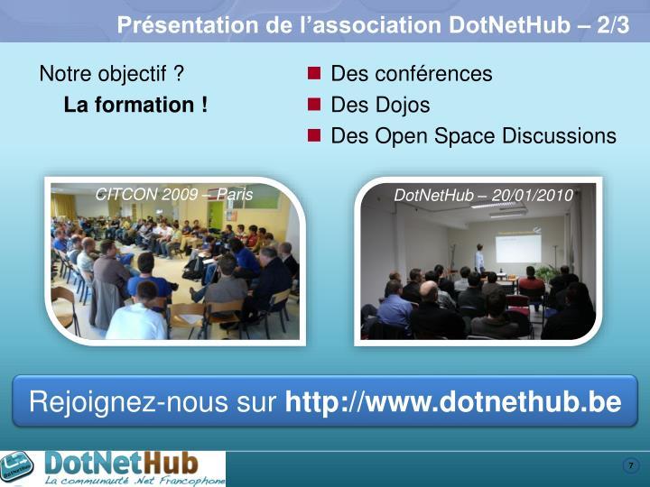 Présentation de l'association DotNetHub – 2/3