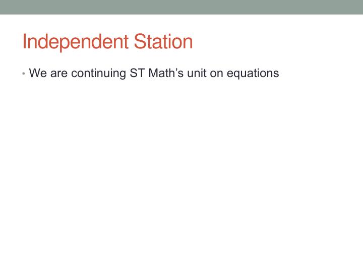 Independent Station