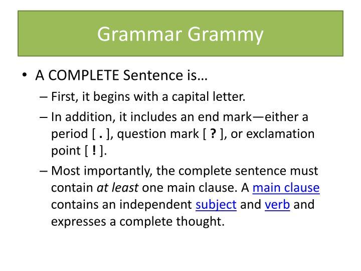 Grammar Grammy
