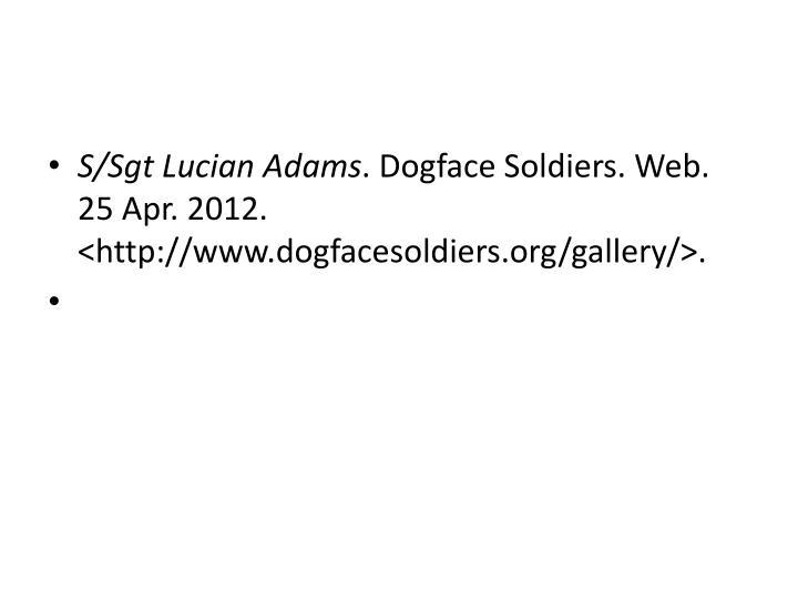 S/Sgt Lucian Adams