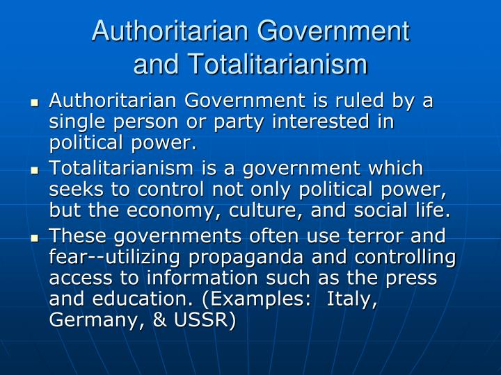 Authoritarian Government