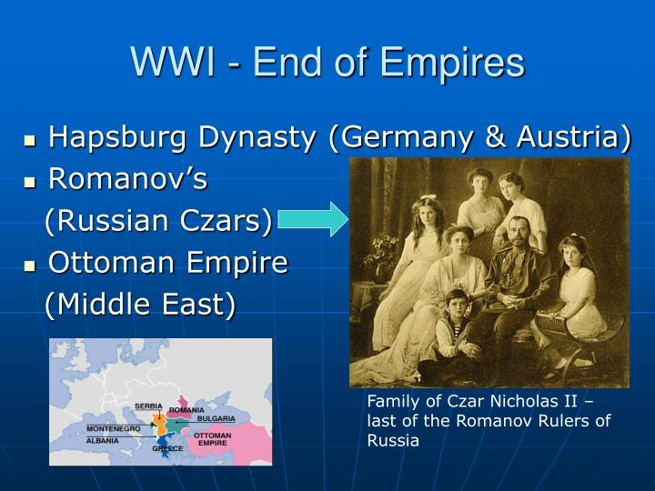 WWI - End of Empires