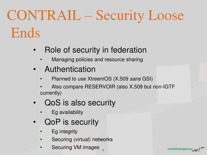 CONTRAIL – Security Loose Ends
