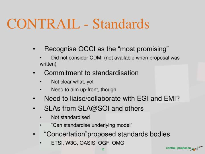CONTRAIL - Standards