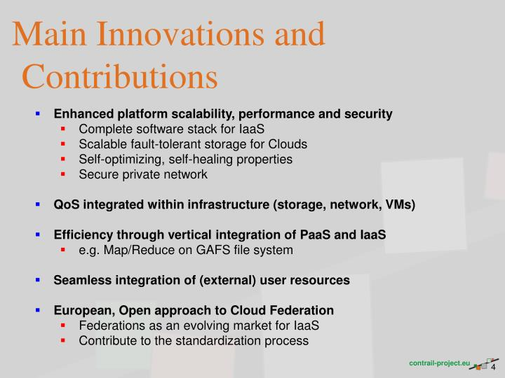 Main Innovations and Contributions