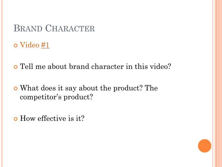 Brand Character