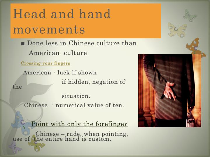 Head and hand movements