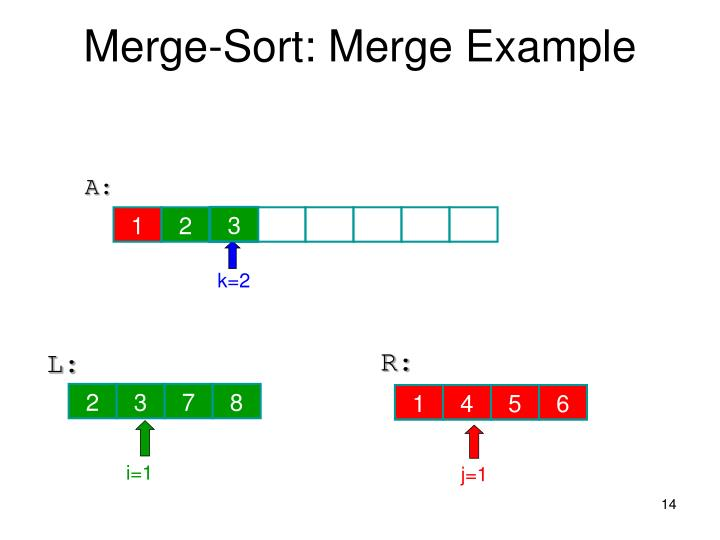 Merge-Sort: Merge Example