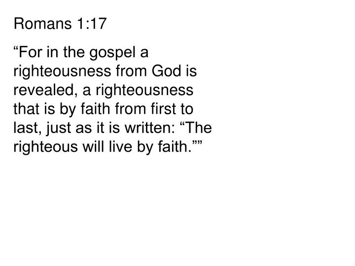 Romans 1:17