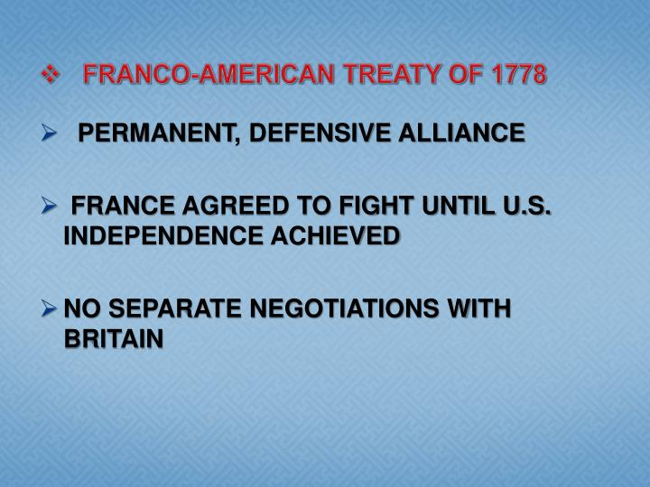 Franco-American Treaty of 1778