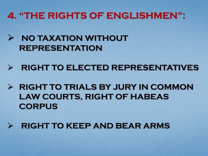 """THE RIGHTS OF ENGLISHMEN"":"