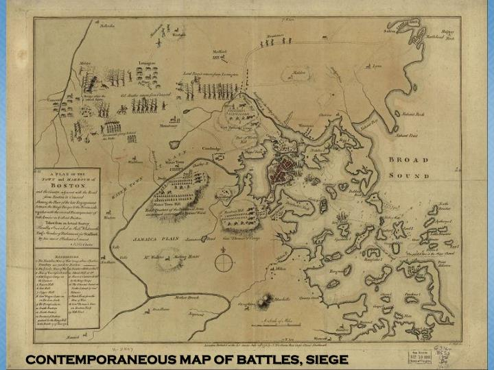 CONTEMPORANEOUS MAP OF BATTLES, SIEGE