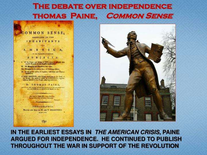 The debate over independence
