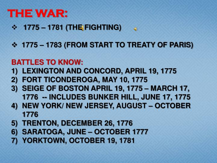 THE WAR: