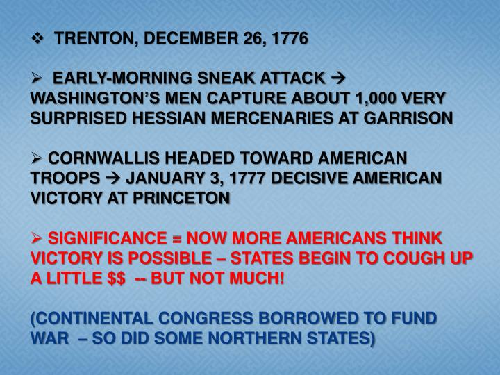 TRENTON, DECEMBER 26, 1776