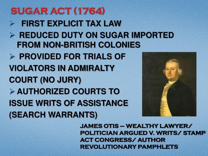 SUGAR ACT (1764