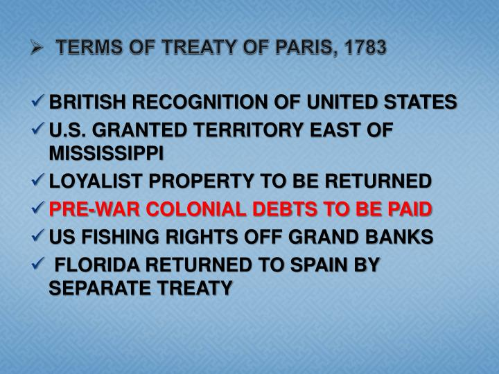 terms of Treaty