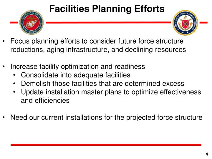 Facilities Planning Efforts